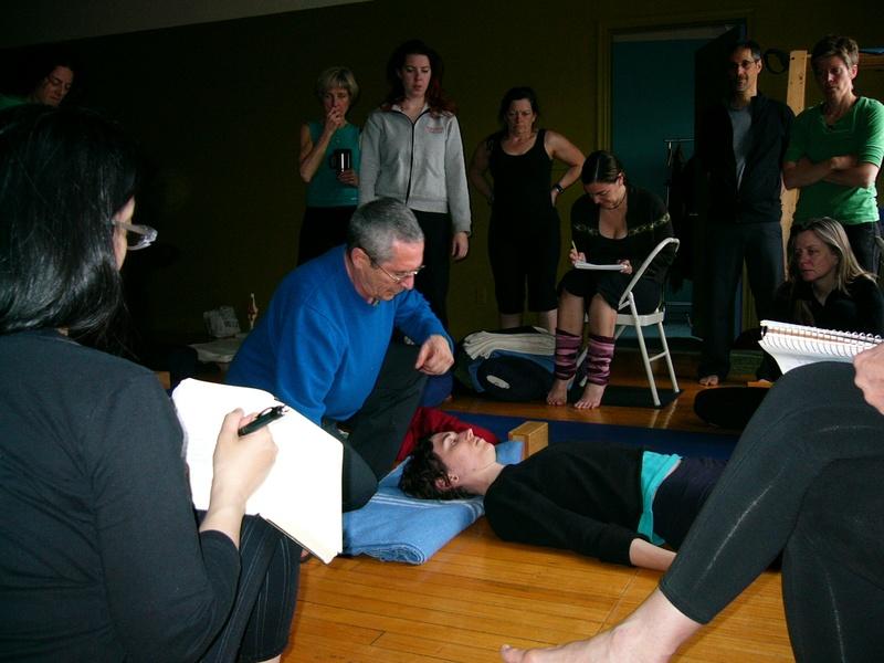 My main yoga guru at a workshop at QSY
